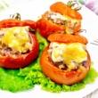 الطماطم المحشية بالجبن والريحان للرجيم
