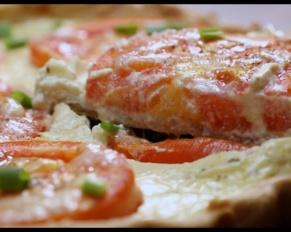 طريقة تحضير تارت الطماطم بجبن الماعز للرجيم