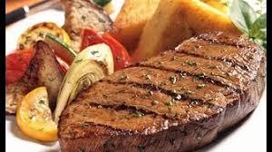 طريقة تحضير ريش اللحم مع سلطة الباذنجان لرجيم صحي