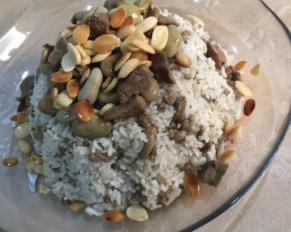 طريقة تحضير الرز بالفول الاخضر واللحمة السوري